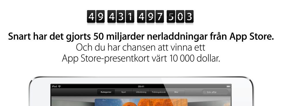 Apple – iTunes – Nedräkning till 50 miljarder appar